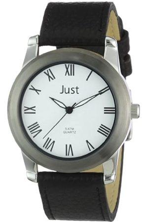 Just Watches Just Watches Herren-Armbanduhr XL Analog Leder 48-S10122WH-BK
