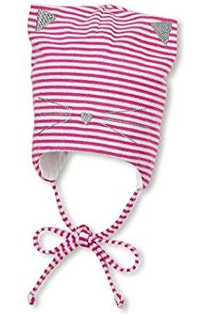 Sterntaler Mädchen Hüte - Mütze für Mädchen mit Bindebändern, Katzen-Design und Streifenmuster, Alter: 4-5 Monate, Größe: 41
