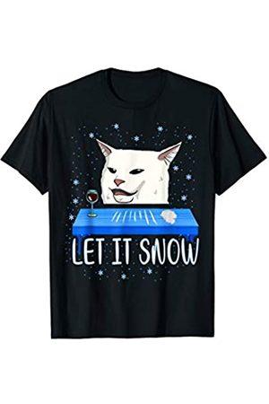 Let it Snow Weihnachtspullover Katzen Meme Hoodie Herren Sweatshirts - Let it snow Cat Meme Ugly Sweater Hässlicher Weihnachtspulli T-Shirt