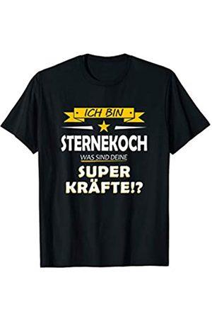 Superkräfte T-Shirts 5 Sterne Chefkoch Kochmütze Chef Sternekoch T-shirt Herren