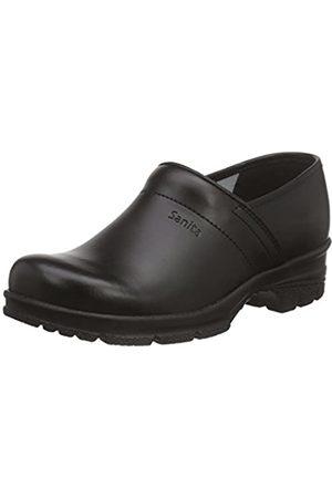 Sanita Sanita Workwear Unisex-Erwachsene San-Duty Closed-O2 Clogs, Schwarz (Black 2)