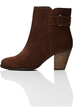 FIND Find. Damen #_Maud Chelsea Boots Stiefeletten, Braun (Brown Brown)