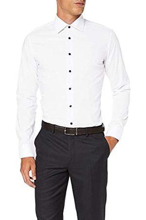 Seidensticker Herren Business - Herren X-Slim Fit Langarm mit Business Kent-Kragen Bügelfrei Uni-100% Baumwolle Businesshemd