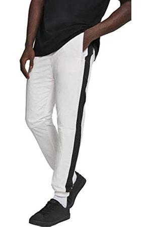 Urban classics Urban Classics Herren Hose Side Striped Crinkle Track Pants Wht/Blk Größe: M