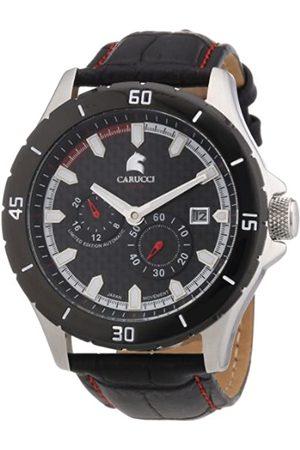Carucci Carucci Watches Herren-Armbanduhr XL Analog Automatik Leder CA2187RD