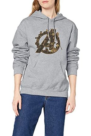 Marvel Damen Sweatshirts - Damen Infinity War Avengers Logo Kapuzenpullover, (Sports Grey SpGry) 38-Sweatshirt