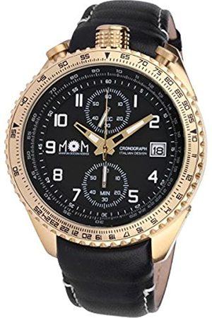 M.O.M. Manifattura Orologiaia Modenese M.O.M. Manifattura Orologiaia Modenese Herren Chronograph Quarz Uhr mit Leder Armband PM7400-622