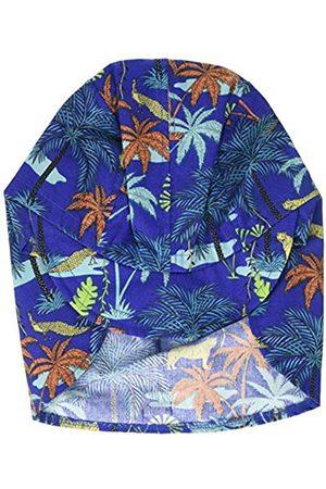 maximo Jungen Hüte - Jungen Schildmütze, Nackenschutzmütze, Bindeband Mütze, Mehrfarbig (Nachtblau-Terrakotta-Palmen 79)