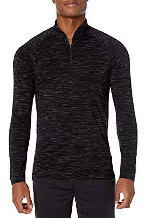 Peak Velocity Langärmliges Merino-Jersey-Oberteil mit Reißverschluss und Stehkragen Athletic-Shirts