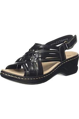 Clarks Damen Slingback Sandalen, (Black Leather Black Leather)