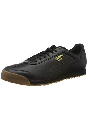 Puma PUMA Unisex-Erwachsene Roma Classic Gum Sneaker, Schwarz (Puma Black-Puma Team Gold)