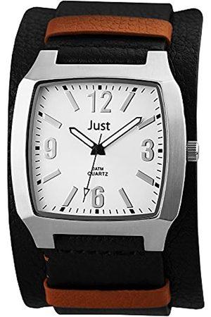 Just Watches Just Watches Herren-Armbanduhr Analog Quarz Leder 48-S10451-BK