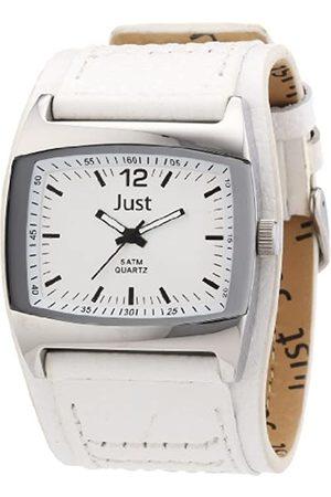 Just Watches Just Watches Herren-Armbanduhr Analog Quarz Leder 48-S10628-WH