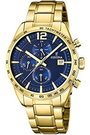 Festina Unisex Erwachsene Chronograph Quarz Uhr mit Edelstahl Armband F20266/2