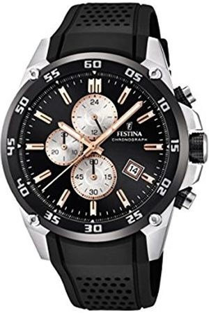 Festina Festina Unisex Erwachsene Chronograph Quarz Uhr mit Leder Armband F20330/6