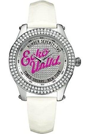 Marc Ecko Marc Ecko Damen Datum klassisch Quarz Uhr mit Leder Armband E10038M2