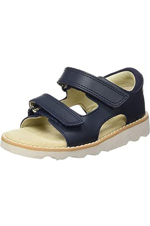 Clarks Jungen Crown Root T Slingback Sandalen, Blau (Navy Leather)