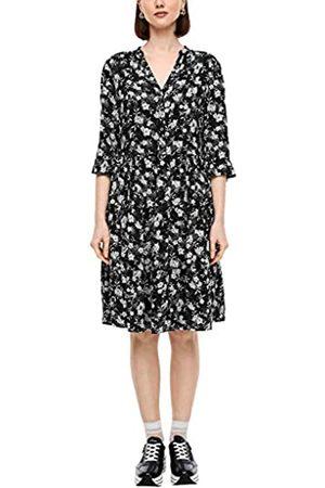 s.Oliver S.Oliver RED LABEL Damen Viskosekleid im femininen Look black floral AOP 42