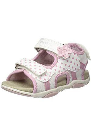 Geox Baby Mädchen B AGASIM Girl D Sandalen, Weiß (WhiteLt Pink C0814)