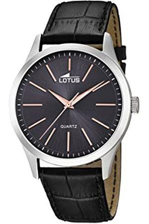Lotus Lotus Herren Analoger Quarz Uhr mit Echtes Leder Armband 15961/8