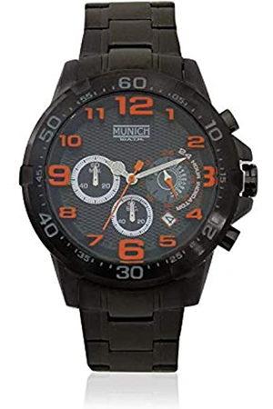Munich Munich Unisex Erwachsene Analog Quarz Uhr mit Edelstahl Armband MU+139.1B