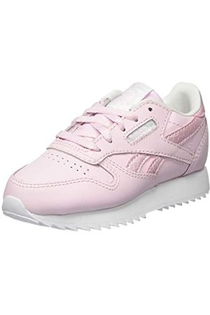 Reebok Reebok Unisex Baby Classic Leather Gymnastics Shoe, Pixel Pink/White/None