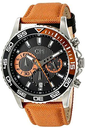 Carlo Monti Carlo Monti Armbanduhr für Herren mit Analog-Anzeige, Chronograph mit Nylonarmband - Wasserdichte Herrenarmbanduhr mit zeitlosem