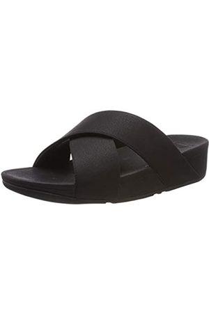 FitFlop Damen Luli Shimmerlux Slides Sandal, (Black 001)