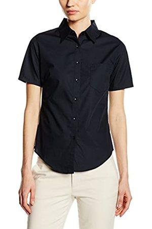 Fruit Of The Loom Damen T-Shirts - Fruite of the Loom Damen Lady Fit Poplin Kurzarm Bluse