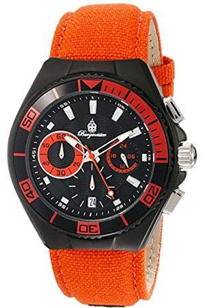 Burgmeister Burgmeister Armbanduhr für Herren mit Analog Anzeige, Quarz-Uhr und Textil Armband - wasserdichte Herrenarmbanduhr mit zeitlosem