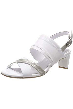 Gerry Weber Shoes Damen Florenz 01 Slingback Sandalen, Weiß (Weiß Kombi 001)