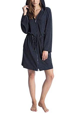 Calida Damen Cosy Shower Bademantel mit Kapuze Schlafanzughose