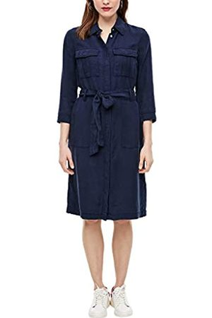 s.Oliver S.Oliver RED LABEL Damen Lyocellkleid in Field-Optik navy 46