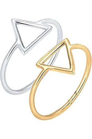 Elli Elli Ring Dreieck Bi-Color Geo Set 925