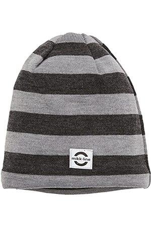 Mikk-Line Hüte - Unisex Baby Kinder Woll Mütze (Dark Grey Melange 180)