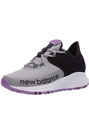 New Balance Damen WTROVRG Traillaufschuhe, Leichtes Aluminium/Schwarz/Neo-Violett