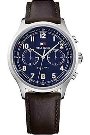 Tommy Hilfiger Tommy Hilfiger Herren Datum klassisch Quarz Uhr mit Leder Armband 1791385