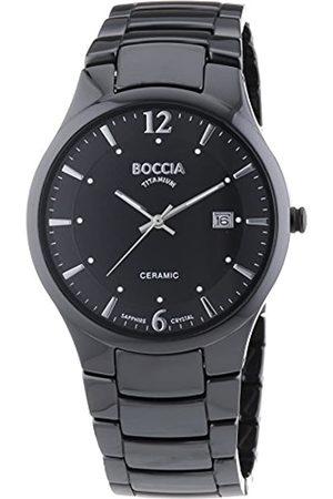 Boccia Boccia Herrenuhr Analog Quarz mit Keramikarmband – 3572-02