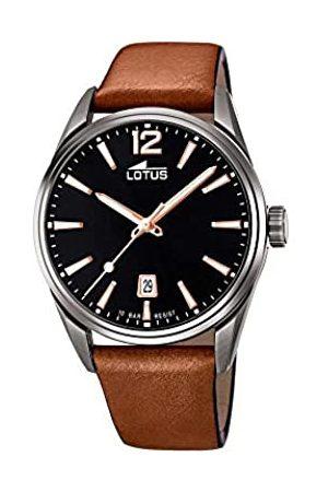 Lotus Herren Analog Quarz Uhr mit Leder Armband 18685/2