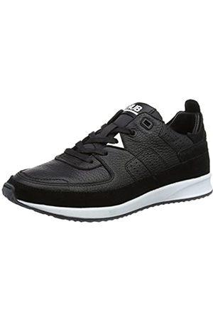 Hub Damen Zone-W L57 w. Pony Sneaker, (Black/Black/White)