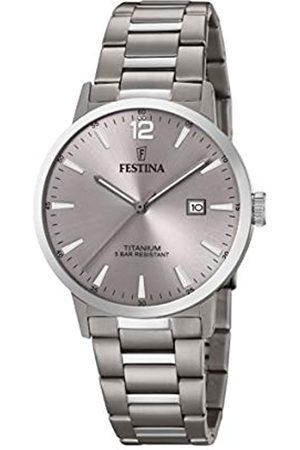 Festina Festina Unisex Erwachsene Analog Quarz Uhr mit Titan Armband F20435/2