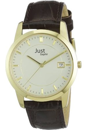 Just Watches Just Watches Herren-Armbanduhr XL Analog Leder 48-S11240-Gd