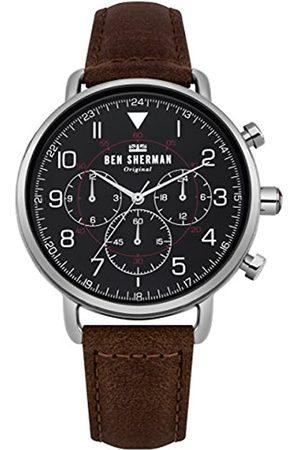 Ben Sherman Ben Sherman Herren Multi Zifferblatt Quarz Uhr mit Leder Armband WB068BBR