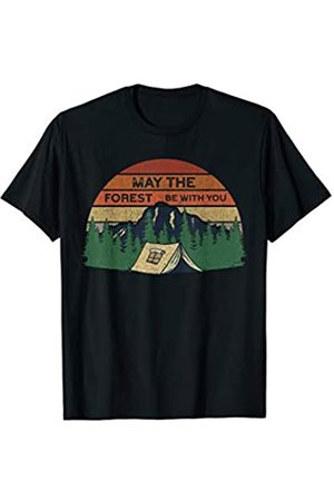 Gifts for people who love camping Vintage Camping Gifts   May The Forest Be With You T-Shirt