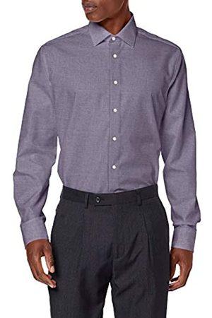 Seidensticker Herren Business Hemd – Passform Tailored Fit – Langarm – Kent-Kragen - Einfarbig - 100% Baumwolle