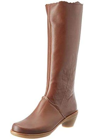 El Naturalista Damen N5356 Iris Aqua Hohe Stiefel, (Brown Brown)