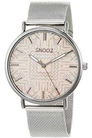 Snooz Snooz Herren Analog Quarz Uhr mit Edelstahl Armband Saa1042-82