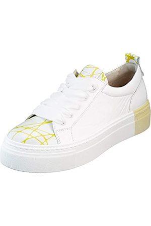 Gabor Gabor Shoes Damen Jollys Sneaker, Weiß (Weiss/Lemon 93)