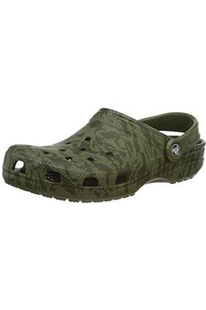 Crocs Crocs Unisex-Erwachsene Classic Printed Camo Clogs, Grün (Army Green 309)