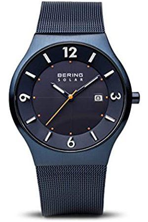 Bering Bering Herren-Armbanduhr Analog Milanaise Blau 14440-393